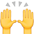 Apple's person raising both hands in celebration emoji