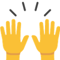 Google's person raising both hands in celebration emoji